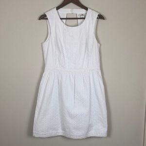 Vineyard Vines White Eyelet Cotton Dress size 12
